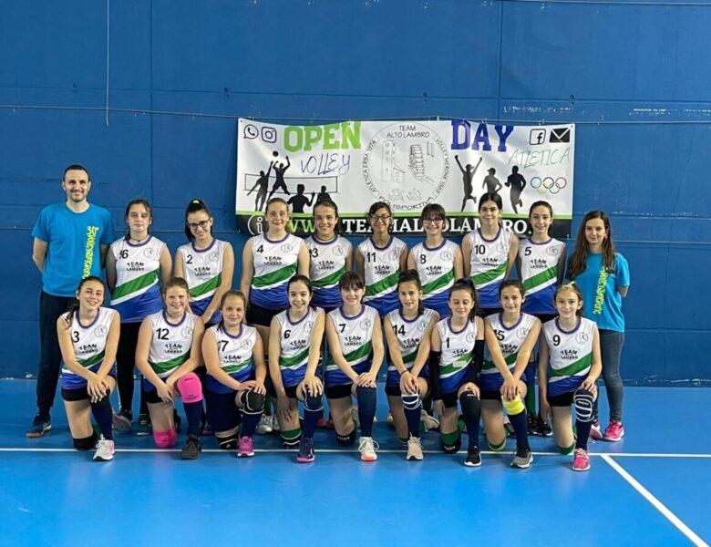 Esordio della U13 del Team Alto Lambro nel campionato CSI di volley