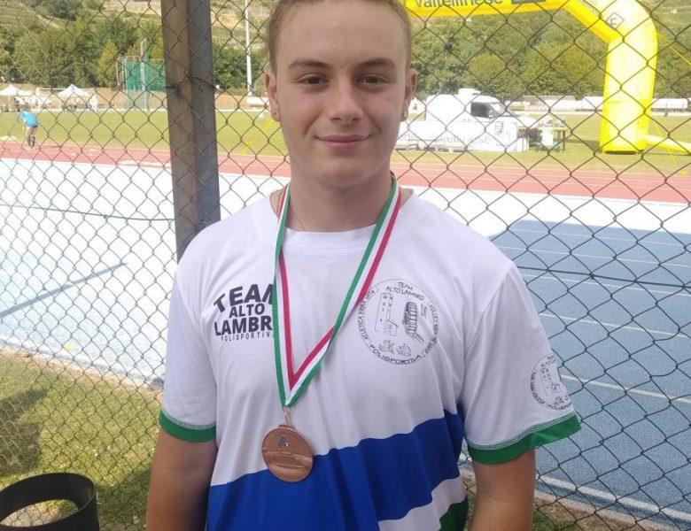 Leonardo Molteni quarto al campionato regionale FIDAL nel lancio del martello
